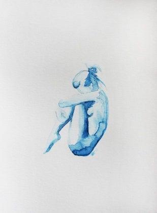 Blaue Figur