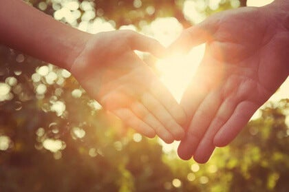 Hände Herzform