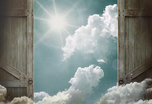 Eine tür  Wenn keine neue Gelegenheit anklopft, dann bau eine Tür - Gedankenwelt
