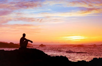Kliff Sonnenuntergang