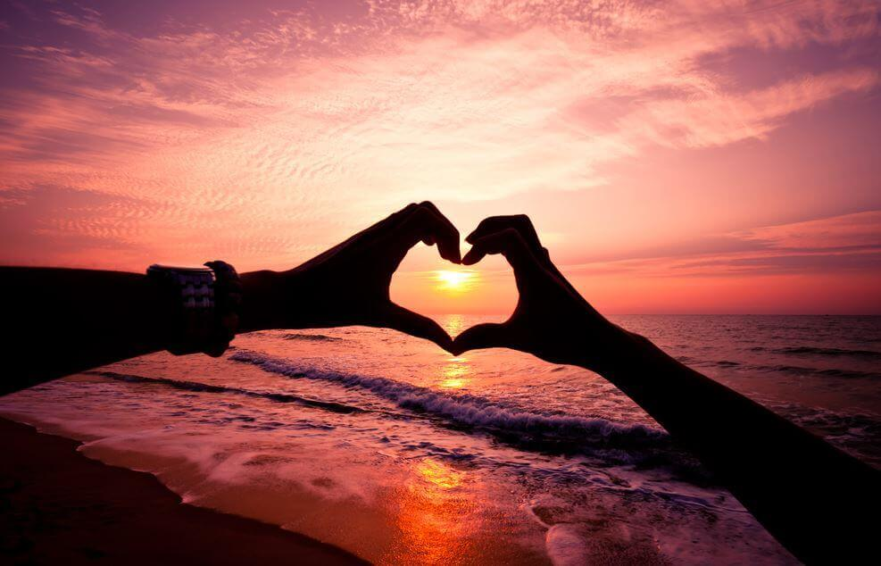 Herz Sonnenuntergang
