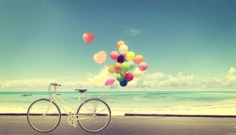 Luftballonfahrrad