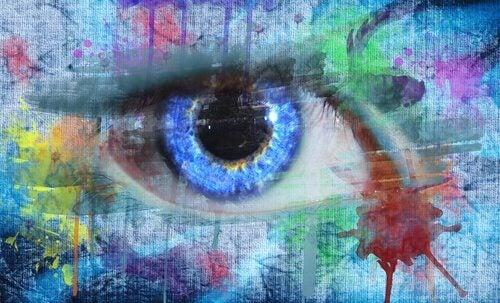Gemaltes Auge