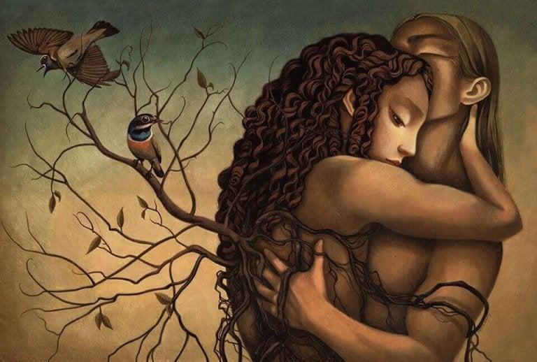 Ich liebe diese Umarmungen, die die Traurigkeit verschwinden lassen