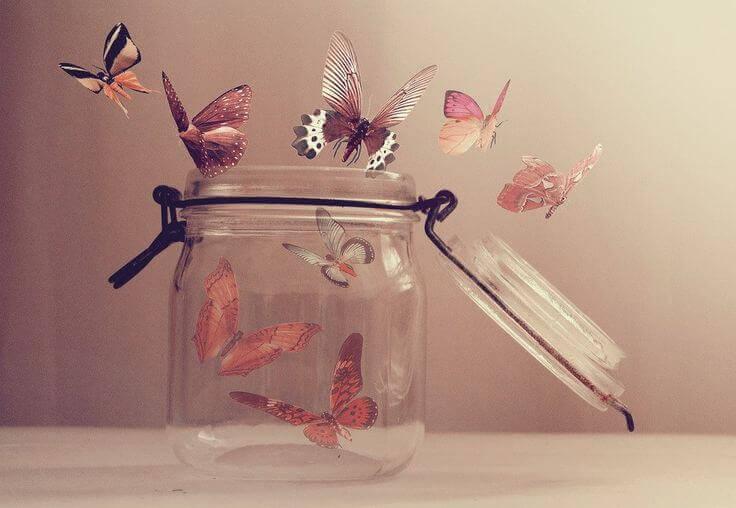 Fliegende Schmetterlinge