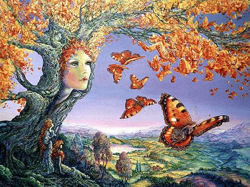 Frau in Baum