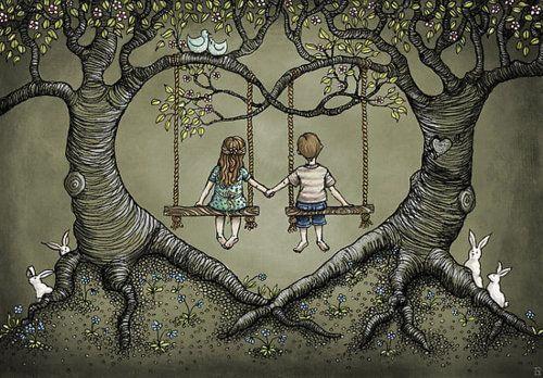 Haendchenhaltendes Paar