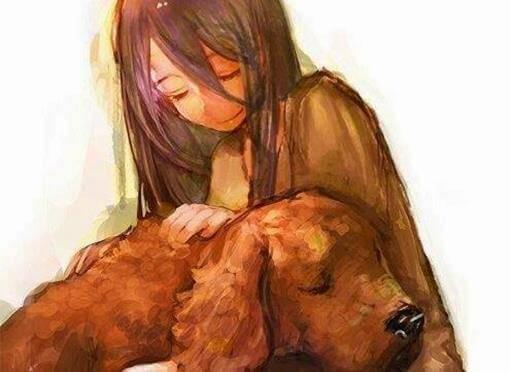 Hund und Maedchen