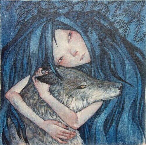wolf-umarmung