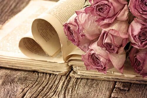 Buch mit Rosen