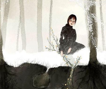 Frau-im-Schnee