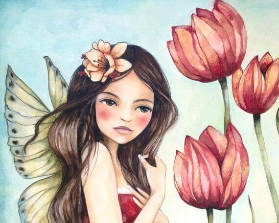 Frau-mit-Blumen