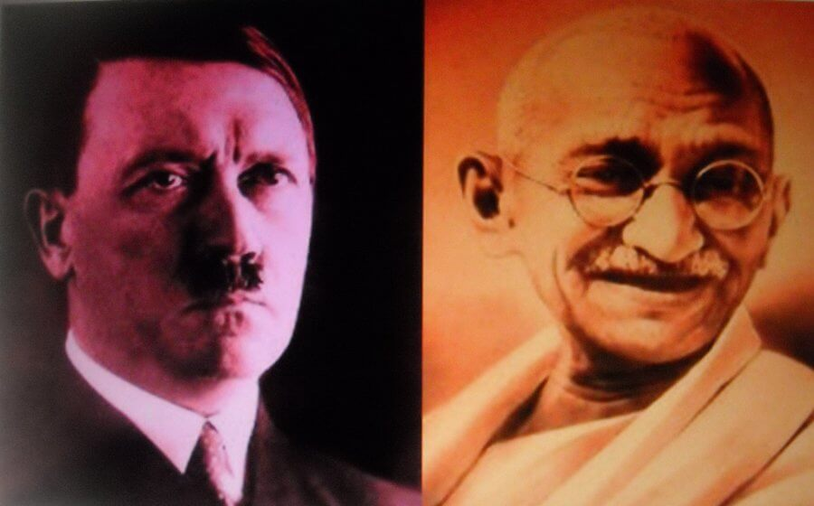 hitler vs gandhi Gandhi's second letter to hitler on 24 december 1940, on the eve of christmas, which to christians is a day of peace when the weapons are silenced, gandhi wrote a lengthy second letter to hitler.