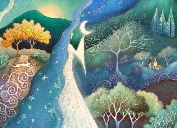 Landschaft-mit-Mond