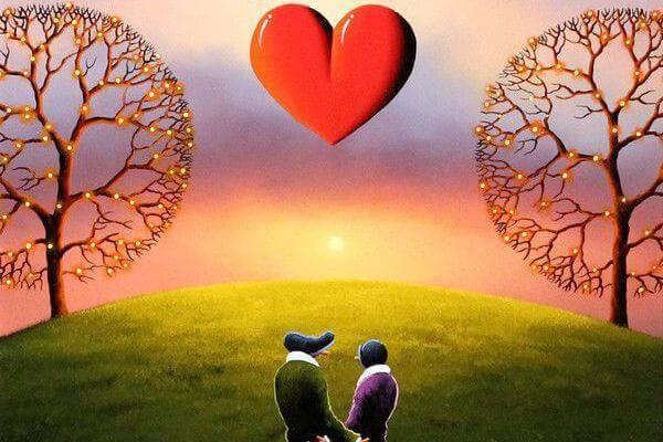 Zwei Verliebte im Park