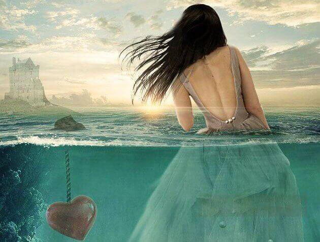 Frau-im-Wasser-mit-versunkenem-Herzen