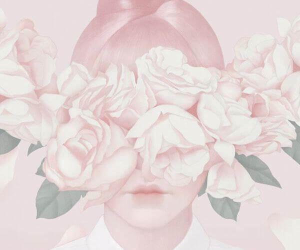 Frau-mit-Blumen-vor-Augen