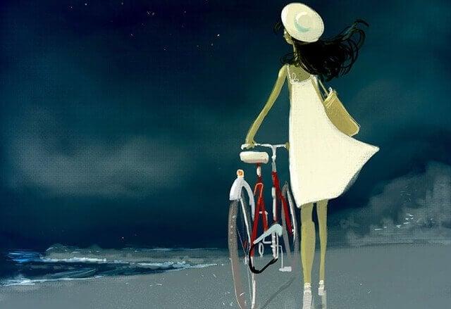 Frau-mit-Fahrrad