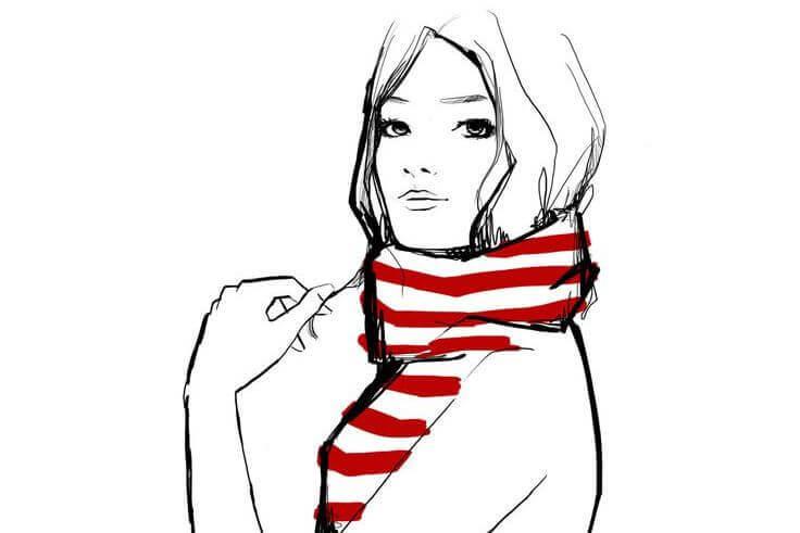 Frau-mit-Schal