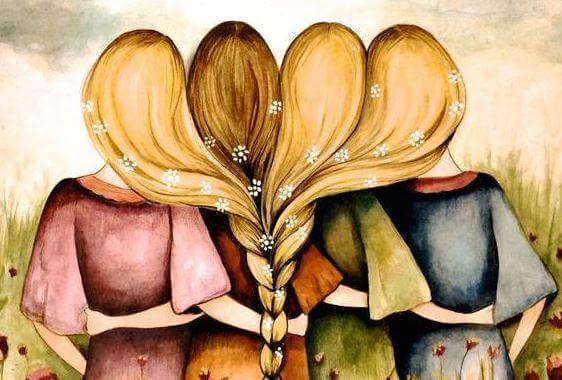 Frauen-halten-zusammen