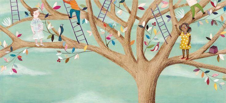 Kinder-klettern-auf-Baum