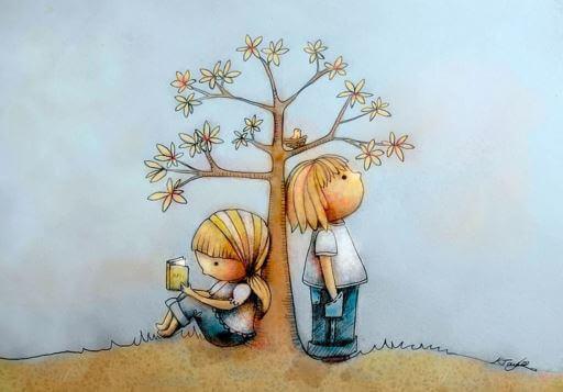 Kinder-unter-Baum