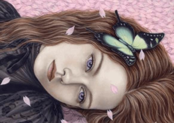 Maedchen-mit-Schmetterling