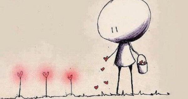 Mann-pflanzt-Liebe