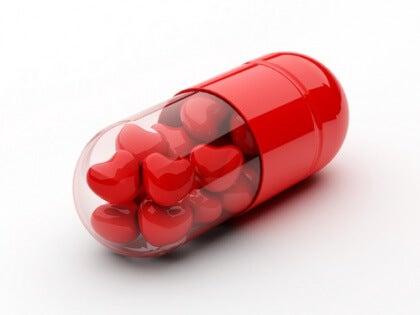 Pille mit Herzen
