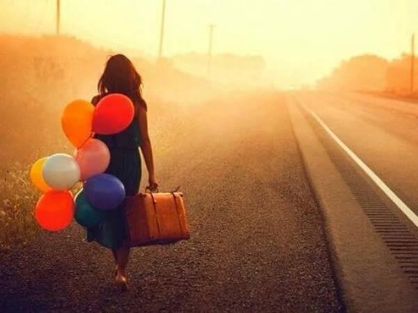 Maedchen mit Luftballons
