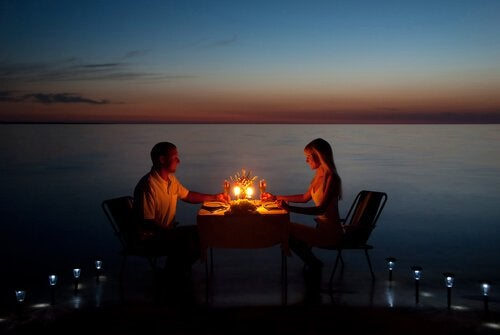 Romantisches Abendessen