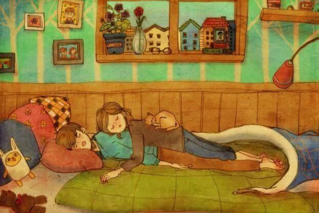 Zusammen-einschlafen