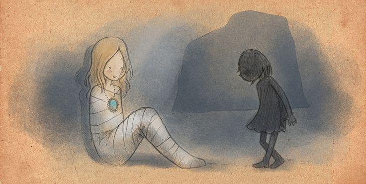 Maedchen mit Schatten