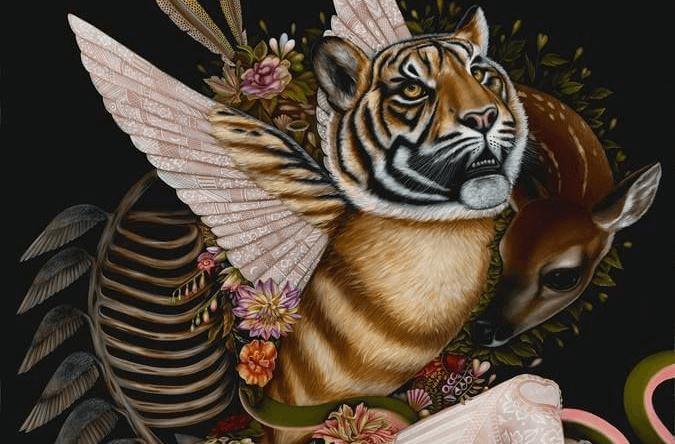Malerischer Tiger