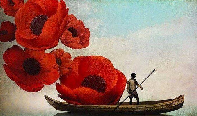 Gondel im Blumenmeer