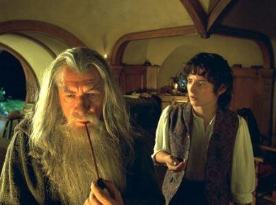 Gandalf in Führung mit Frodo