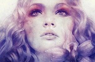 Narben der Seele sind im schönen Gesicht nicht zu erkennen