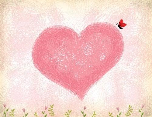 Herz-Schmetterling