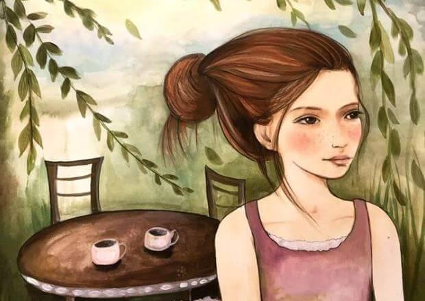 Kaffee-und-Frau