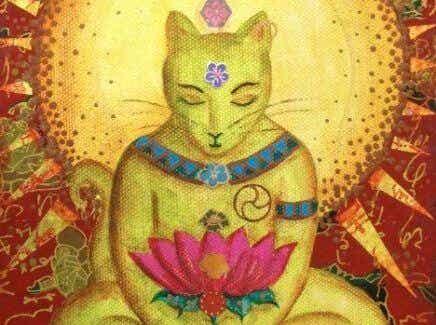 Katzen im Buddhismus und eine Legende