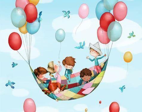 Kindheit mit Luftballons