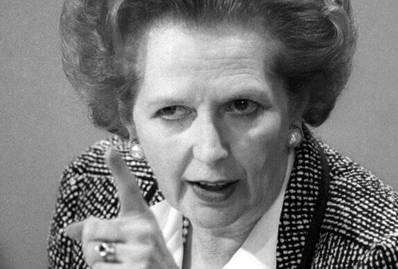 Margaret Thatcher in Führung