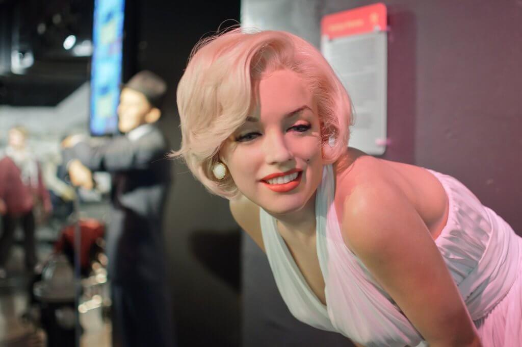 Porträt von Marilyn Monroe, einer Frau mit psychischen Problemen