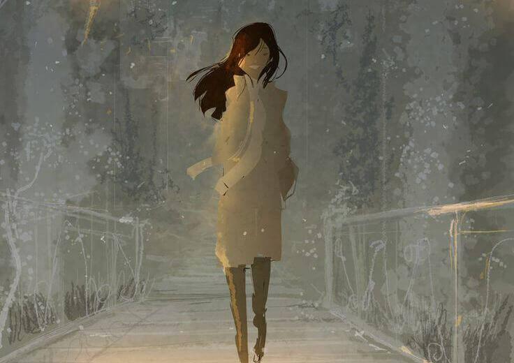Frau will loslassen