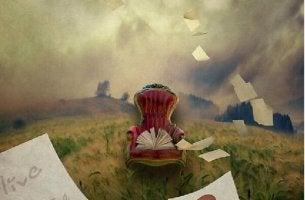 Alles geht vorüber und der Wind fegt die Buchstaben vom Papier, damit es neu beschrieben werden kann.
