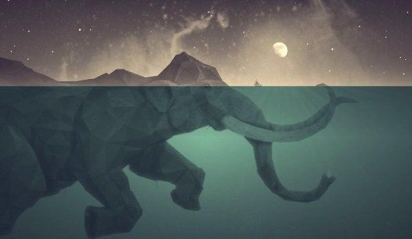 Elefant-Mond