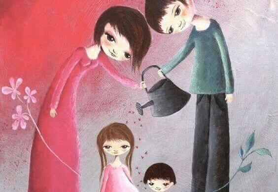 Richtige Erziehung - Eltern fördern das Wachstum ihres Kindes