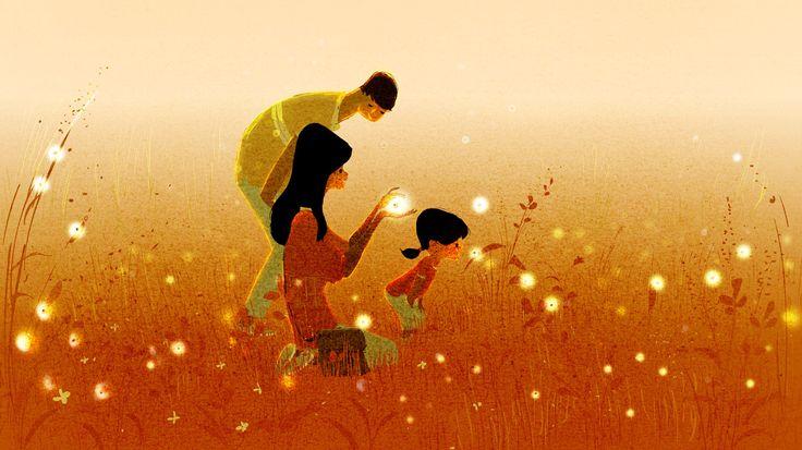 Glühwürmchen und Familie