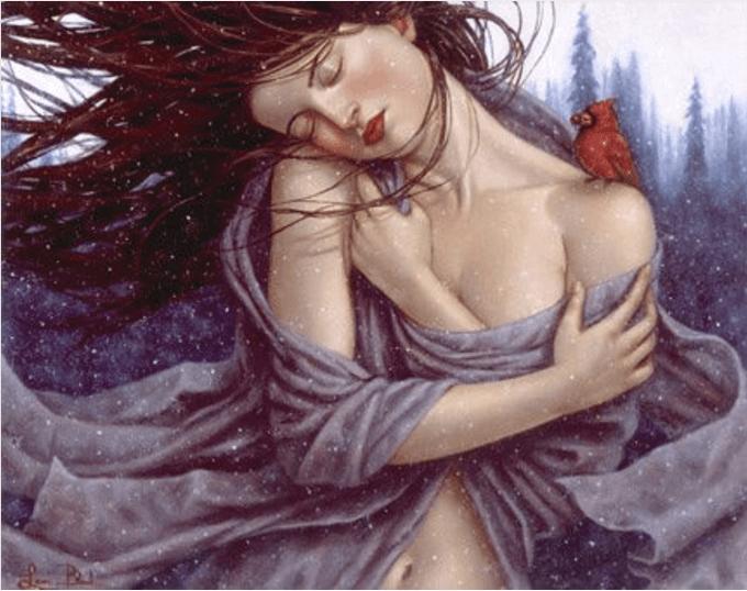 Frau genießt Einsamkeit