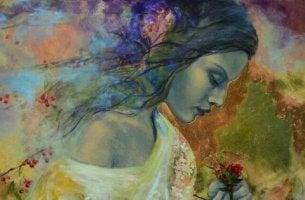 Ist Hochsensibilität eine Gabe? - Gemälde einer Frau